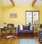 스톡 포토 - 전체, 접시 닦는 사람, 선실로, 창문, 에서, 파랑 ...