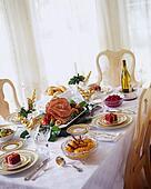 christmas ham dinner table - photo #30